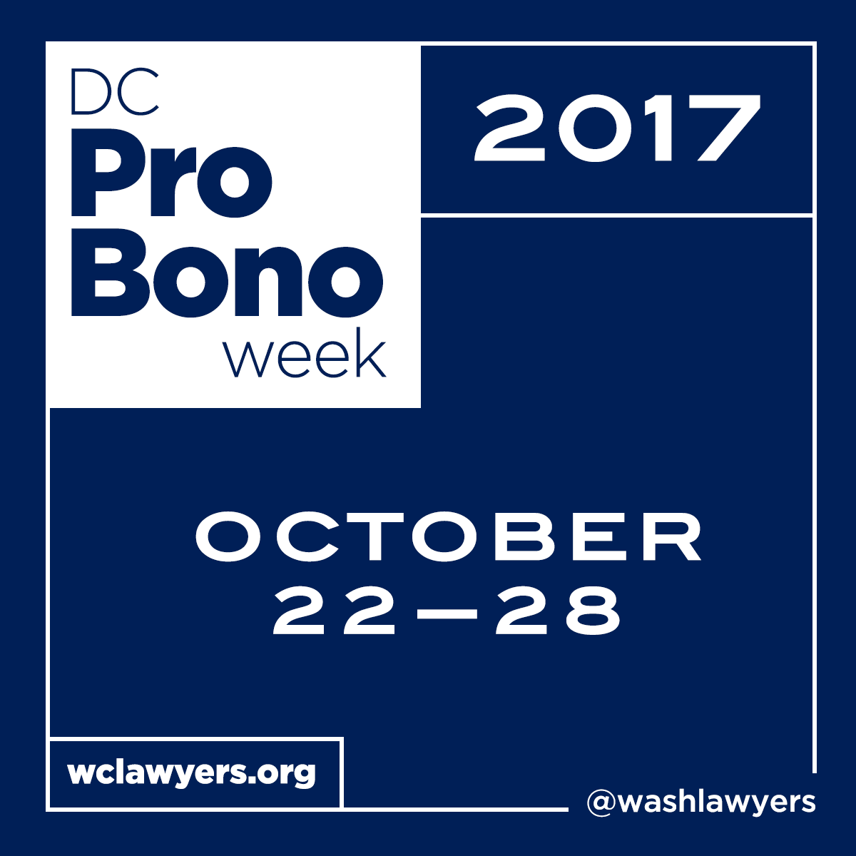 Graphic: DC Pro Bono Week 2017