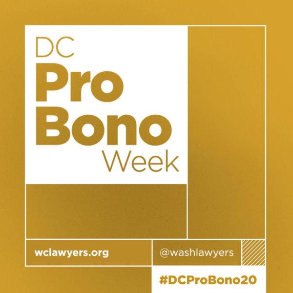 Graphic: DC Pro Bono Week 2020