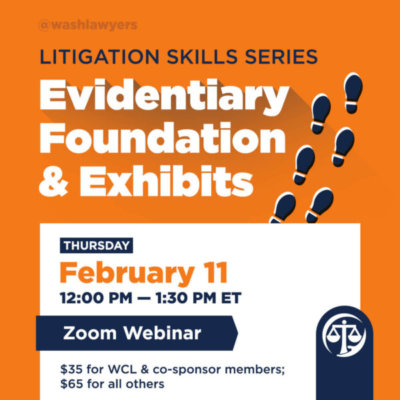 Litigation Skills: Evidentiary Foundations & Exhibits